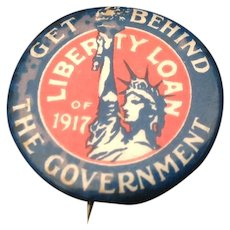 World War I Liberty Loan Pin Back Button