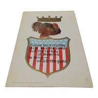Patriotic Thanksgiving postcard 1907