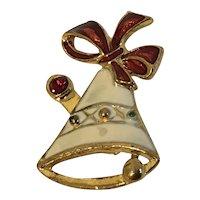 SFJ Enamel Holiday Bell Pin