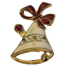 SFJ Enamel Holiday Bell Pin