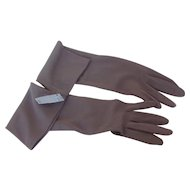 Vintage Van Raalte Elbow Length Ladies Gloves Unused size XL Shadow Grey