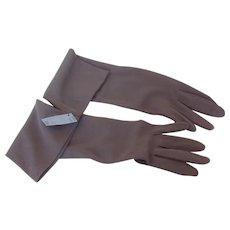 Vintage Van Raalte Elbow Length Ladies Gloves Unused size XL Shadow Grey