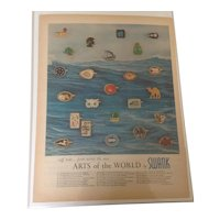Original 1962 Life Magazine Advertising featuring Arts of the World cuff links by Swank