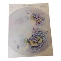 China Design by Wanda Pattern #2 Violets c. 1965 by Wanda Clapham