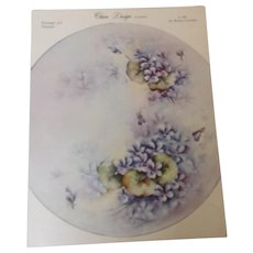 China Design by Wanda Pattern #2 Violets c. 1965 by Wanda Clapham