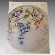 China Design by Wanda. Pattern #3 Grapes c. 1965 by Wanda Clapham