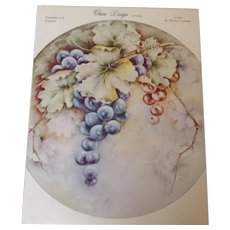 China Design by Wanda. Pattern #3 Grapes c. 1965 by Wanda Clapham