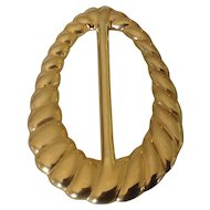 Big Bold Tear Drop Gold Tone Belt Buckle