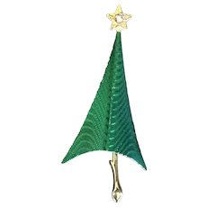 Cerrito Modernist Christmas Tree Pin 1980's Book piece