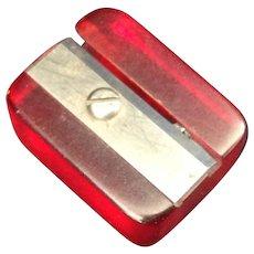 Cherry Red Bakelite pencil sharpener - Red Tag Sale Item