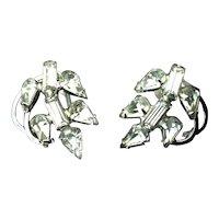 Sparkling Rhinestone Screwback Earrings Signed Duane