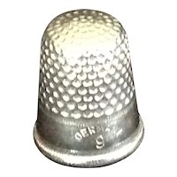 White metal thimble Germany 9