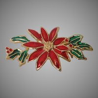 Enamel Poinsettia Pin