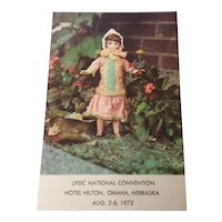 "Souvenir Postcard ""Alice"" UFDC National Convention August 2-6 1972"