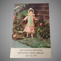 "Souvenir Postcard ""Alice"" UFDC National Convention August 2-6 1972"