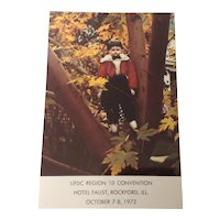 """""""Albert"""" Unused Souvenir Postcard UFDC Region 10 Convention October 7-8, 1972"""