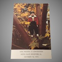 """Albert"" Unused Souvenir Postcard UFDC Region 10 Convention October 7-8, 1972"