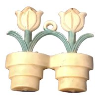 Vintage Shade Pull Tulips in a Flower Pot