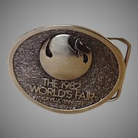 1982 Knoxville, Tennessee World's Fair Belt Buckle