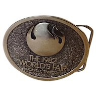 1982 Knoxville, Tennessee World's Fair Belt Buckle
