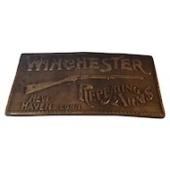 Winchester Repeating Arms Replica Belt Buckle Bergamot Brass Works