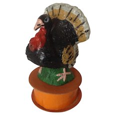 Thanksgiving Turkey Papier Mache Candy Container Germany