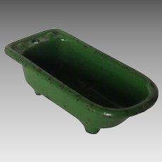 Kilgore Cast Iron Dollhouse Miniature Green Bath Tub
