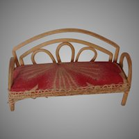 Bentwood Dollhouse Miniature Sofa