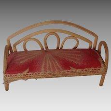 Bentwood Dollhouse Miniature Sofa