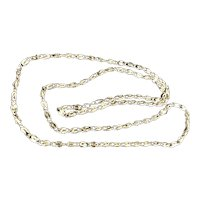 Stainless Steel Snail Pattern Long 50 inch Chain Necklace.