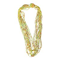 Vintage multi-colored seed bead necklace Japan