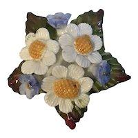 Aynsley Bone China Flower Brooch England