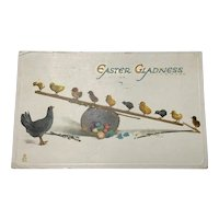 "1914 Tuck's ""Chicks and Rabbits"" Easter Gladness"