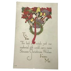 Unused Christmas Postcard Sold to Benefit the Fatherless Children of France
