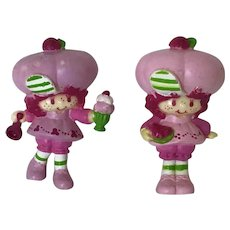 Two Vintage Strawberry Shortcake Friends Figures. Raspberry Tart