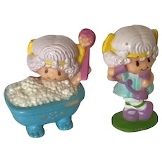 Two Vintage Strawberry Shortcake Friends Figures Angel Cake