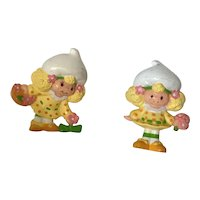 Two Vintage Strawberry Shortcake Friends Figures Lemon Meringue