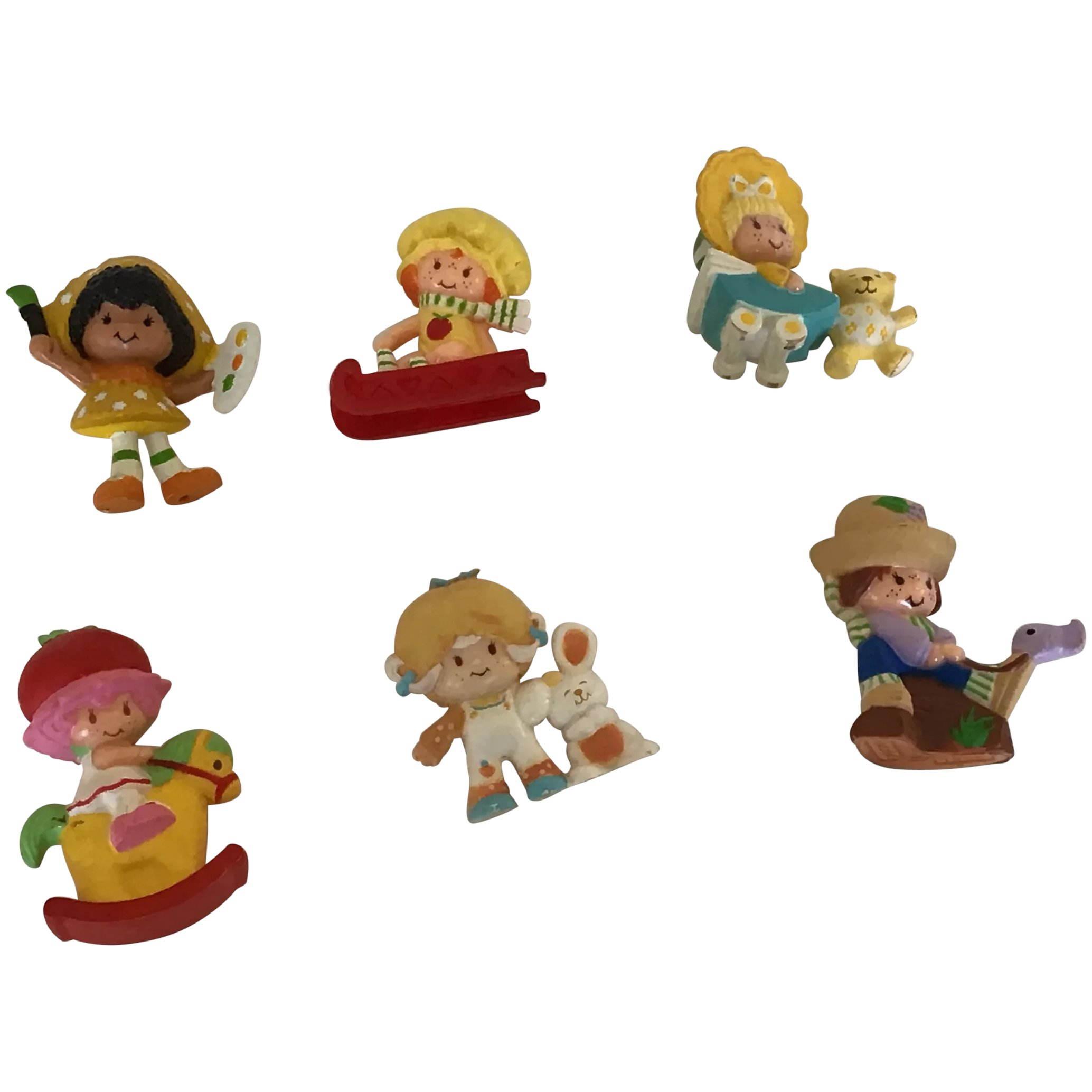 Set Of 6 Vintage Strawberry Shortcake Friends And Babies Figures