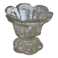 """Loop"" or ""O'Hara"" flint glass master salt c 1850-1860"