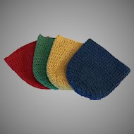 Set of 4 Crocheted Cotton Beverage Glass Cozies