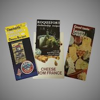 Set of 4 Booklets Featuring French, Danish and Finnish Cheeses