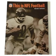 1967 This is NFL Football Chicago Bear's Edition