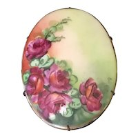 Hand Painted Porcelain Brooch