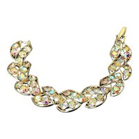 Iridescent Aurora Borealis Rhinestone Bracelet