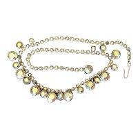 Weiss Aurora Borealis Rhinestone Choker Necklace