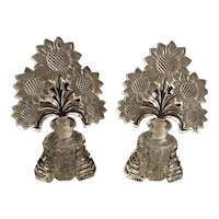 Pair of IRICE by Imperial Glass Sunflower Perfume Bottles