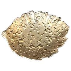 Vintage 22K Weeping Gold Leaf Shaped Dish