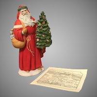 1995 Premier Issue Lenox Annual Santa Figurine with COA