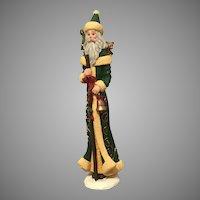 1996 Lenox Collector's Treasury of Santas Pencil Santa in Green Robe
