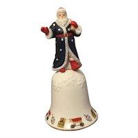 1995 Lenox Fine Porcelain American Santa Christmas Bell